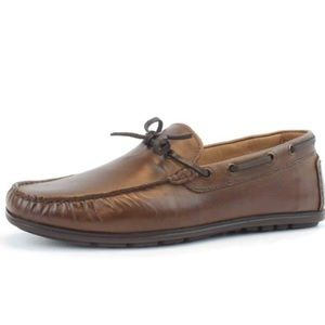 GBX | Brown Leather Henley Loafer Boat Shoes 10.5